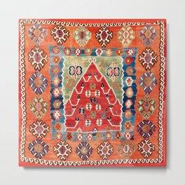 Bayburt Northeast Anatolian Niche Kilim Print Metal Print