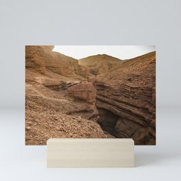 Red Canyon, Eilat, Israel Mini Art Print