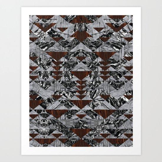 Wood Galaxy Art Print