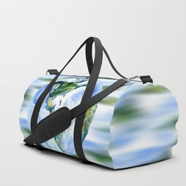 Hand Drawn Earth Duffle Bag