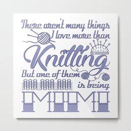 Knitting Mimi Metal Print