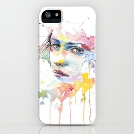 Mina watercolor face iPhone Case
