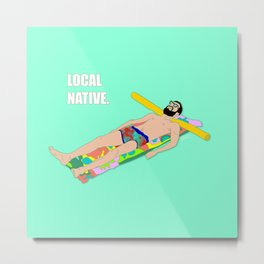 Local Native - Music Inspired Fan Art Digital Drawing Metal Print