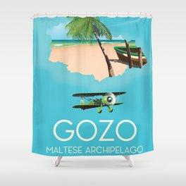 Gozo , Maltese archipelago Shower Curtain