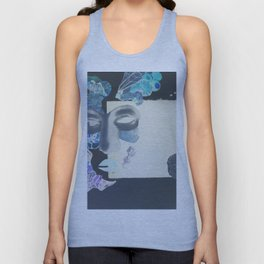 portrait: people have sides & sometimes we hide them Unisex Tank Top