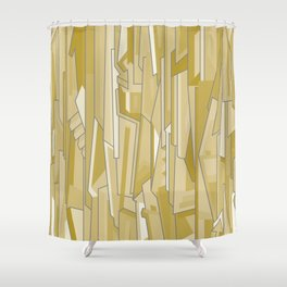 Graph (tan) Shower Curtain