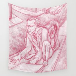 Red Monkey Man Wall Tapestry