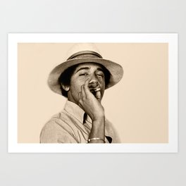 Young Obama Cool Art Print