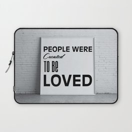 Strong message Laptop Sleeve