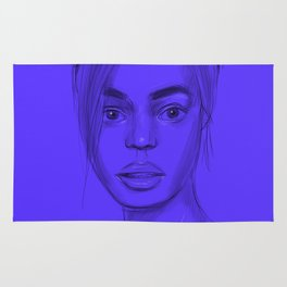 Joan in purple Rug