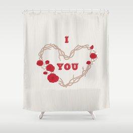 The heart of a wreath Shower Curtain