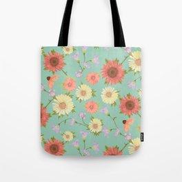 Prairie Floral Mint Tote Bag