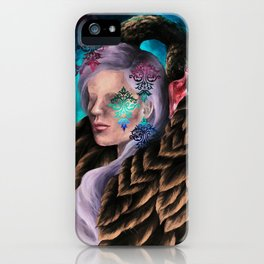 """Did He Make You Feel Like Wallpaper"" Painting iPhone Case"
