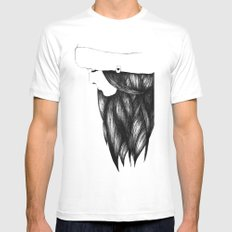 Snow Girl MEDIUM Mens Fitted Tee White