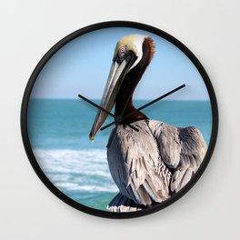 Red Pelican Wall Clock