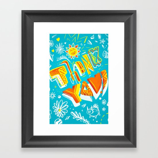 Thank you ! Framed Art Print