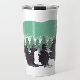Bear Landscape Travel Mug