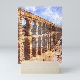 Roman Aqueduct, Segovia. Spain. Mini Art Print