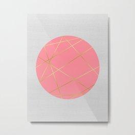 Minimalist with circles II Metal Print