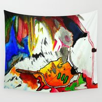 joy Wall Tapestries featuring Joy by Aaron Carberry