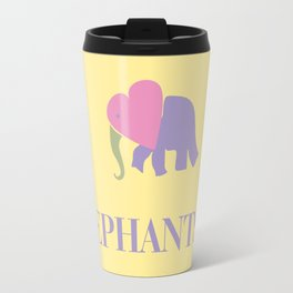 I Heart Elephants Travel Mug