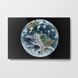 Four Tropical Hurricanes On Planet Earth from Space Satellite Photograph Metal Print