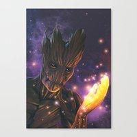 groot Canvas Prints featuring Groot by Aferova
