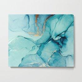 Abstract Turquoise Art Print By LandSartprints Metal Print