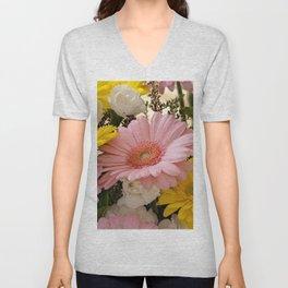 Gerbera Bouquet Unisex V-Neck