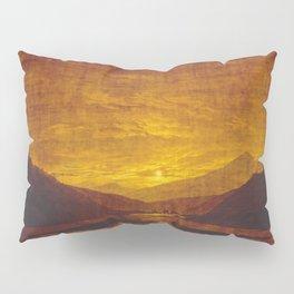 Caspar David Friedrich Mountainous River Landscape Pillow Sham