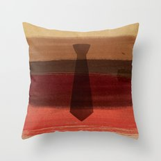Watercolor father necktie Throw Pillow