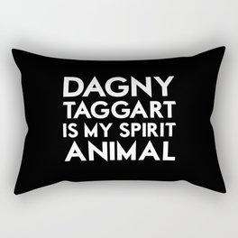 Dagny Taggart is my Spirit Animal Rectangular Pillow