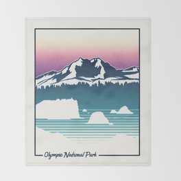 Olympic National Park Throw Blanket