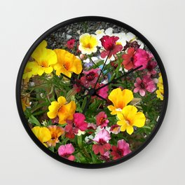 Colorful Nemesia Wall Clock