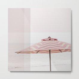 Beach Umbrella I Metal Print