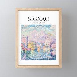 Signac - La Tour Rose, Marseille Framed Mini Art Print