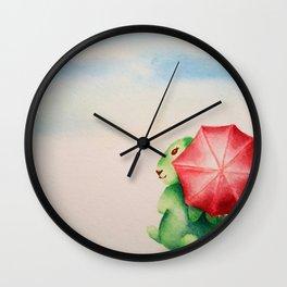Rainy Day Bunny Rabbit, Paris when it rains Wall Clock