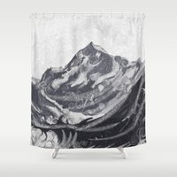 cook Shower Curtains featuring Cook Grey by varvar2076