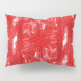 Subtle interweaving of sparkling smudges from red lava and light chaotic cycle. Pillow Sham