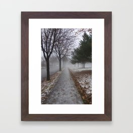 Mist; Minneapolis, 2014. Framed Art Print
