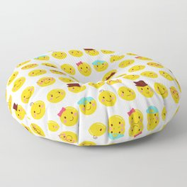 Cheeky Emoji Faces Floor Pillow