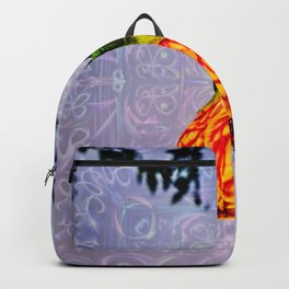 Stained glass and flower pendant Backpack
