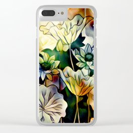 Lotus Love Clear iPhone Case