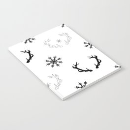 Reindeer antlers and snowflakes Notebook