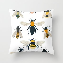 British Bees Throw Pillow