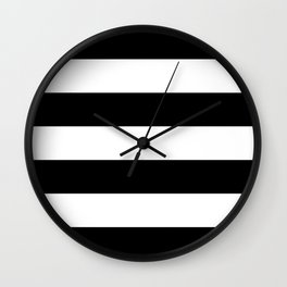 Black and White Large Stripes Wall Clock