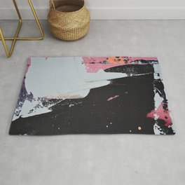 Profoundly [2]: a vibrant abstract piece in blues magenta and orange by Alyssa Hamilton Art Rug