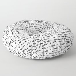 Banned Literature Internationally Print Floor Pillow