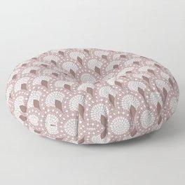 Mosaic - Parisian Tiles – Rose Floor Pillow