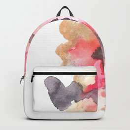 Watercolor Pink Black Gold Flow | [dec-connect] 44. blackblood Backpack